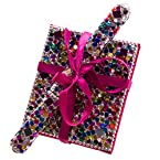 Beaded Notebook with Pen - Multicolored