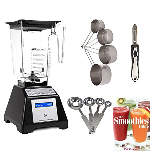 Blendtec TB-621-25 Total Blender Classic with WildSide Jar (Black) + Smoothies Bible Cookbook and Kitchen Accessory Bundle (Signature Classics Blender compare prices)