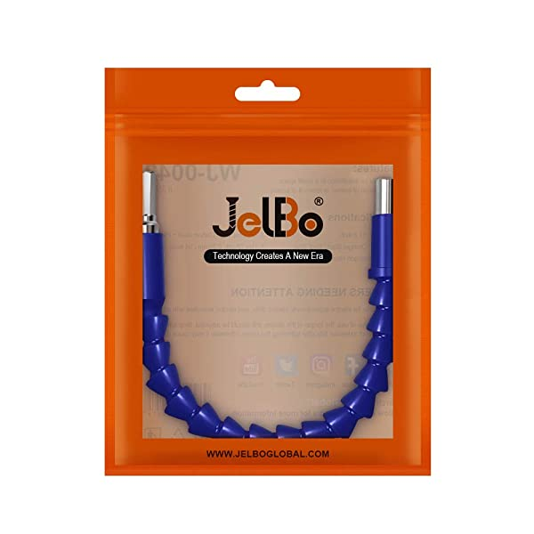 JelBo 11.8 Inch Flexible Shaft Extension Bits, 1/4'' Hex Shank Magnetic Screwdriver Bit Holder Connect Link, Flex Drive Quick Connect Adapter of Power Tools Accessories by Electric Drill(Blue) (Color: Blue, Tamaño: 1/4 Flexible Shaft Extension Bits)