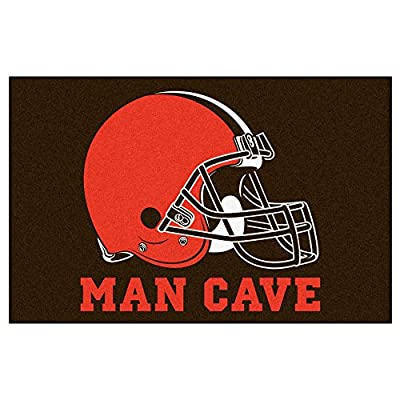FANMATS 14289 NFL Cleveland Browns Nylon Universal Man Cave Starter Rug