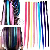 Remylady 9 Colors 22 Korea Synthetic Fiber Rainbow Colorful Clip On In Hair Extensions Stytlish Eye Watching Diy