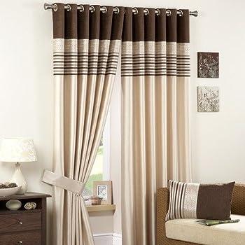 pas cher curtina carlton double rideaux oeillets et. Black Bedroom Furniture Sets. Home Design Ideas