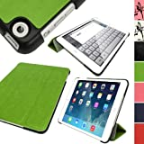IGadgitz Green PU Leather with Hard Back 'Cover Mate Plus' Case for Apple iPad Mini 1st Generation 2012 & New iPad Mini 2nd Generation with Retina Display (launched October 2013) 16GB 32GB 64GB 128GB Wi-Fi & Cellular. With Sleep/Wake Function + Screen Pr