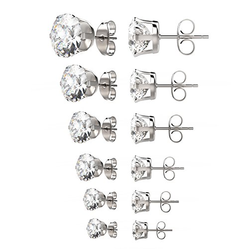 uhibros-316l-surgical-stainless-steel-round-clear-cubic-zirconia-stud-earrings-6-pairs-assorted-size