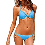 Aidonger Damen Frauen Bandage Bikini-Sets Baden Bikini Push-Up Badeanzug Bademode