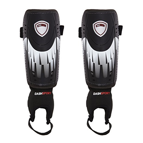 Soccer Shin Guards -Youth Sizes - by DashSport - Best Kids Soccer Equipment with Ankle Sleeves - Great for Boys and Girls (Shin Guards For Kids compare prices)
