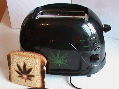 Marijuana Hemp Leaf Toaster