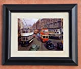 STUNNING FRAMED AND MOUNTED PRINT FROM AN ORIGINAL PAINTING CASTLE JUNCTION BELFAST
