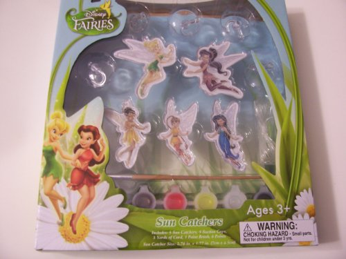 Disney Fairies Sun Catcher Activity Set ~ 5 Suncatchers (Tinkerbell, Silvermist, Fawn, Iridessa, and Rosetta)