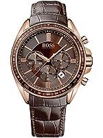 Boss - 1513093 - Montre Homme - Quartz Chronographe - Bracelet Cuir Marron