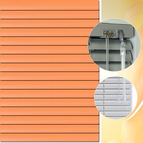 Aluminium Jalousie 195 x 160 cm (Breite x Höhe) – Lamellenfarbe 1301 lachsorange // Maßanfertigung Alu Jalousien Jalousette Rollo Plissee