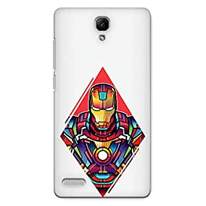 CrazyInk Premium 3D Back Cover for XIAOMI REDMI NOTE PRIME - Iron Man Color Art