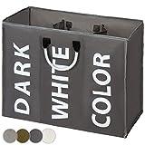 Jago Wäschesortierer in 4 Farben mit cleverer Unterteilung leicht und gut zu transportieren mit 2 Tragegriffen aus Aluminium