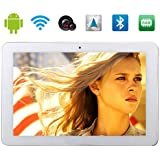 Ouku® 10.1 Inch 1280*800 3G Phone Call Tablet PC Phablet Android 4.4 Smartphone Cell 2GB RAM 16GB ROM MTK8382 Quad core 1.5GHz Dual SIM Dual Cameras WIFI Bluetooth GPS(White)