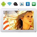 "Tablet 10.1 ""10-Zoll-Android 4.4 KitKat Quad Core 2G 3G GSM WCDMA GPS Bluetooth Phone Tablet PC 2 GB RAM 16 GB ROM-Dual-Kamera entriegeltes Schwarz / Weiß (Weiß)"
