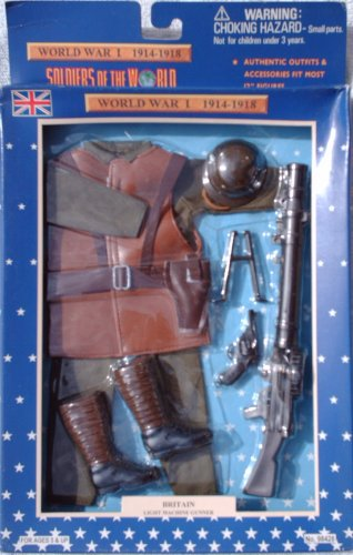 Buy Low Price Formative International 12″ WWI Brittish Light Machine Gunner Action Figure Accessary Outfit (1997) (B001UM501G)