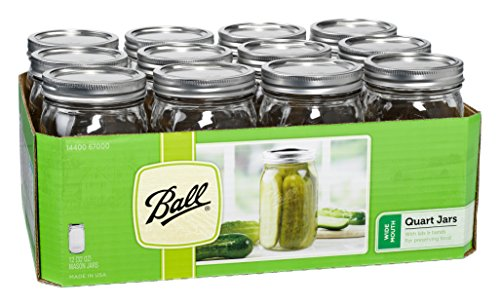 Ball Mason Wide Mouth Quart Jars with Lids