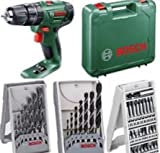 51%2Bafxd1FzL. SL160  - BEST BUY #1 BOSCH PSB 1800 LI CORDLESS COMBI HAMMER DRILL BODY ONLY + CARRYING CASE, REPLACES OLDER PSB18LI2 BODY NEW COMPACT POWERFULL MODEL, COMPATIABLE WITH ALL POWER4ALL TOOLS, BATTERIES AND CHARGERS AVALIABLE TO PURCHASE SEPERATELY