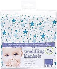 Comprar Bambino Mio - gasa Swaddling Mantas - Blue Stars (paquete de 2)