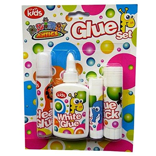childrens-white-glue-set-pack-of-4-animal-antics-clear-glue-white-glue-large-mini-glue-sticks