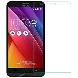 MoArmouz Go - Tempered Glass For Asus Zenfone 2 Laser (6 Inches) Clear Glass by MoArmouz- 9H Hardness Screen Guard / Curved Edge 9H Hardness Premium Tempered Glass Screen Guard Protector HD Clear Tempered Glass Screen Protector