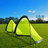 FORZA Flash Pop-Up Football Goals [Pair] - Available in 2.5ft, 4ft & 6ft for instant fun!