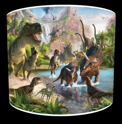 8 Inch Table Dinosaurs Mural Childrens Lampshade