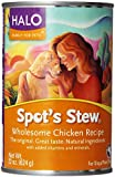HALO, PURELY for PETS 455108 6-Pack Spot's Stew Wholesome Chicken for Dog Foods, 22-Ounce