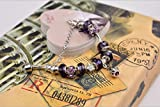 "Gorgeous Jewelry Crown Pendant Carving ""I Love You"" Letter Purple Crystal Lover Bracelets of Pandora Jewellery"