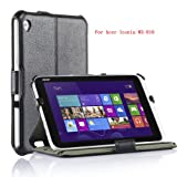 VSTN Acer Iconia W3-810 Multi-Angle Stand Slim-FIT Folio PU Cover Case (Only Fit ACER W3-810 Tablet) (For Acer Iconia W3-810, Black)