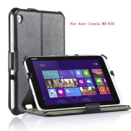 VSTN Acer Iconia W3-810 Multi-Angle Stand Slim-FIT Folio PU Cover Case
