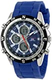 U.S. Polo Assn. Sport Mens US9137  Blue Silicone Analog Digital Sport Watch
