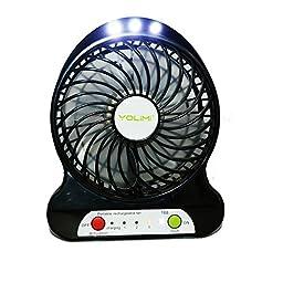 3 Speeds Portable Handheld Mini USB Desktop Fan wih LED Light for laptop room office outdoor travel