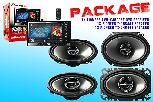 Package ! Pioneer Avh-X4600Bt Dvd Receiver + Pioneer Ts-G6844R Speaker + Pioneer Ts-G4644R Speakers