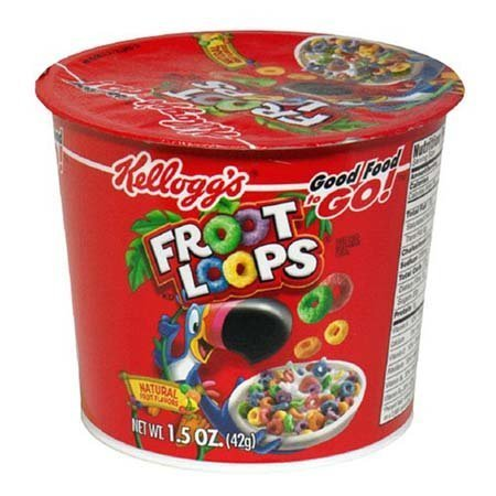 Kellogg's Fruit Loops Cereal in a Cup [Pack of 4]