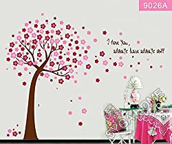 Peach coloured Autumn themed wall sticker AY9026A