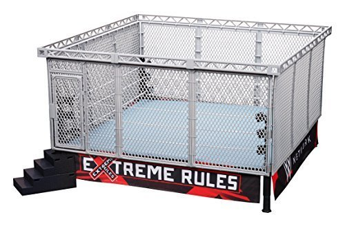 wwe-authentic-scale-ring-with-modern-steel-cage-match-by-wwe