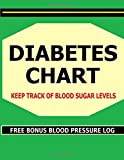 img - for Diabetes Chart: Keep track of Blood Sugar levels in this Diabetes Chart book. Bonus! Includes FREE Blood Pressure Charts. book / textbook / text book