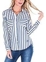 SIR RAYMOND TAILOR Camisa Mujer (Azul / Blanco)