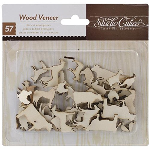 Studio Calico Here and There Veneer Farm Animal Die Cut Pieces - 1