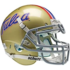 TULSA GOLDEN HURRICANE Schutt AiR XP Full-Size AUTHENTIC Football Helmet by ON-FIELD