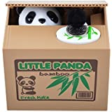 Qiyun Cute Stealing Coin Cat Money Box Piggy Bank, Panda