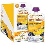 Happy Tot Organic Toddler Food Morning, Banana Blueberry, yogurt & oats 4 oz (Pack of 8)