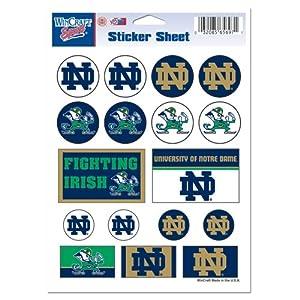 Buy NCAA Notre Dame Fighting Irish 5'' x 7'' Sticker Sheet by WinCraft