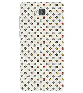 Chiraiyaa Designer Printed Premium Back Cover Case for Huawei Honor Holly 2 Plus (pattern star) (Multicolor)