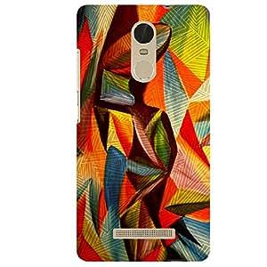 Multicolor Lines - Mobile Back Case Cover For XIAOMI REDMI NOTE 3
