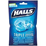 Halls Ice Blue Cough Suppressant Drops - 30 Drops/Bag, 12 Bags/Case
