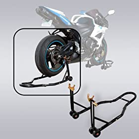 Apontus Motorcycle Rear Wheel Spool Lift Stand, Black