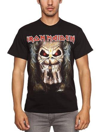 Loud Distribution Iron Maiden - Eddie Candle Finger Men's T-Shirt Black Small