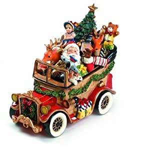 #!Cheap Fitz and Floyd Holiday Musical Santa Mobile
